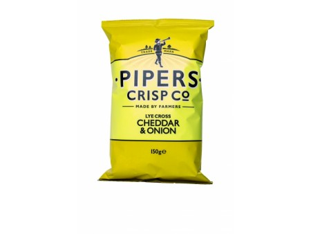 Pipers crips Cheddar onion - 150gr
