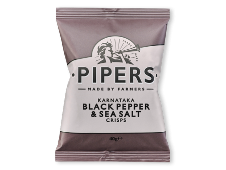 Pipers crips Black Pepper and Sea salt - 150gr