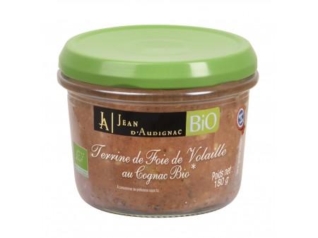 Terrine de Foie de Volailles au Cognac BIO - 180 gr