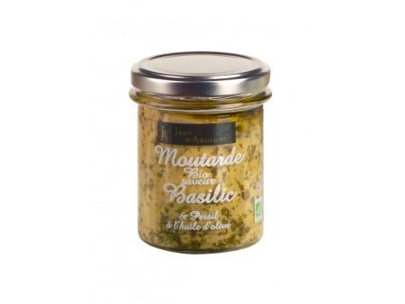 Moutarde BIO Basilic et Persil JA - 175gr