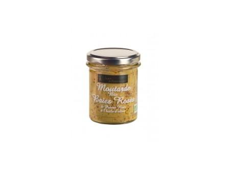 Moutarde BIO Baies roses et poivre noir  JA - 175gr