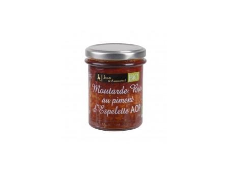 Moutarde BIO Piment d'Espelette  JA - 175gr