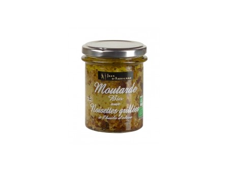 Moutarde BIO saveur Noisettes grillées  JA - 175gr