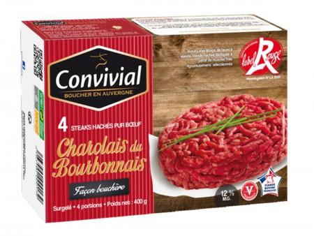Steaks Hachés Charolais Façon Bouchère par 4 - Label Rouge